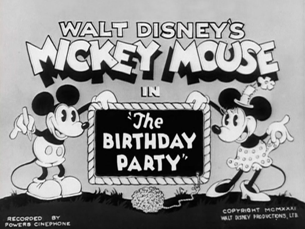 Affiche Poster gouter anniversaire birthday party mickey disney