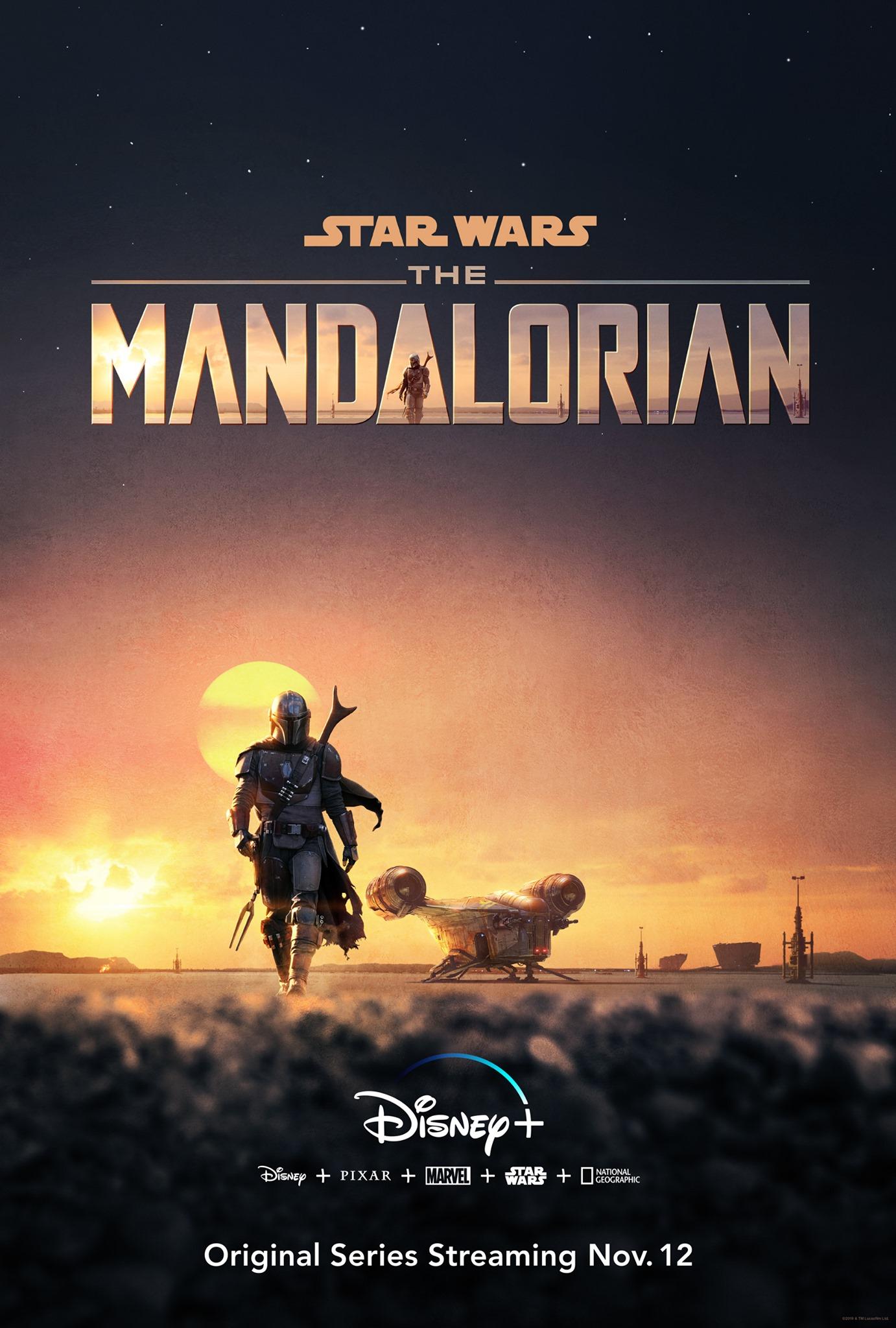Affiche Poster mandalorian disney + lucasfilm