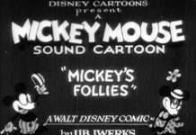 Affiche Poster mickey folies follies disney