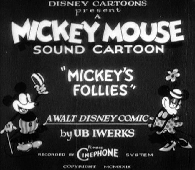 Affiche Poster mickey folies follies disney