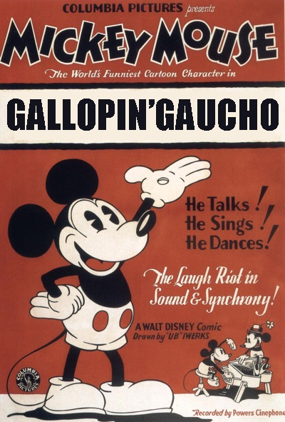 Affiche Poster mickey gaucho gallopin disney