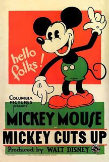 Affiche Poster mickey jardinier cuts up disney