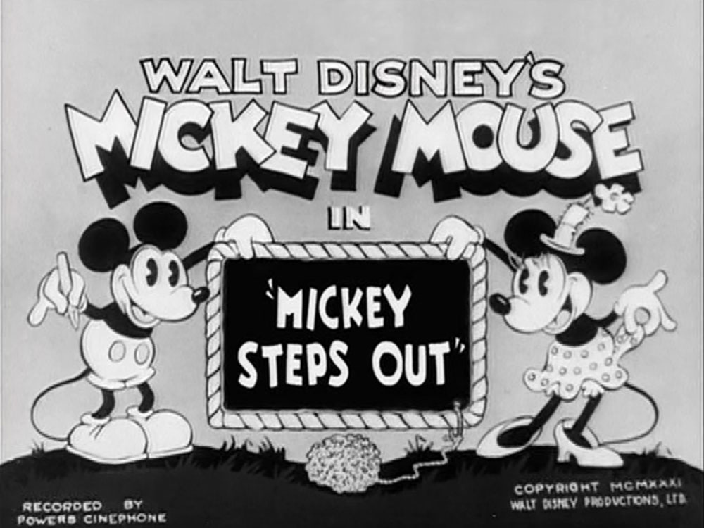 Affiche Poster mickey sortie steps out disney