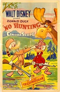 Affiche poster no hunting donald disney