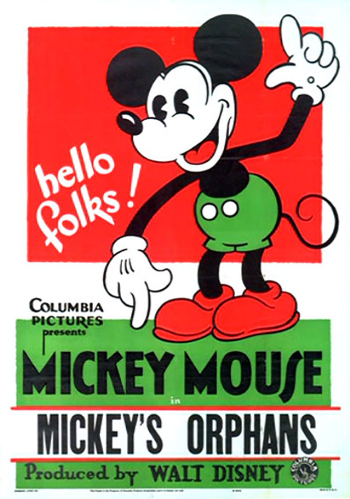Affiche Poster orphelins mickey orphans disney