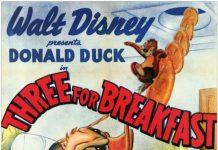 Affiche Poster petit déjeuner servi three breakfast donald disney