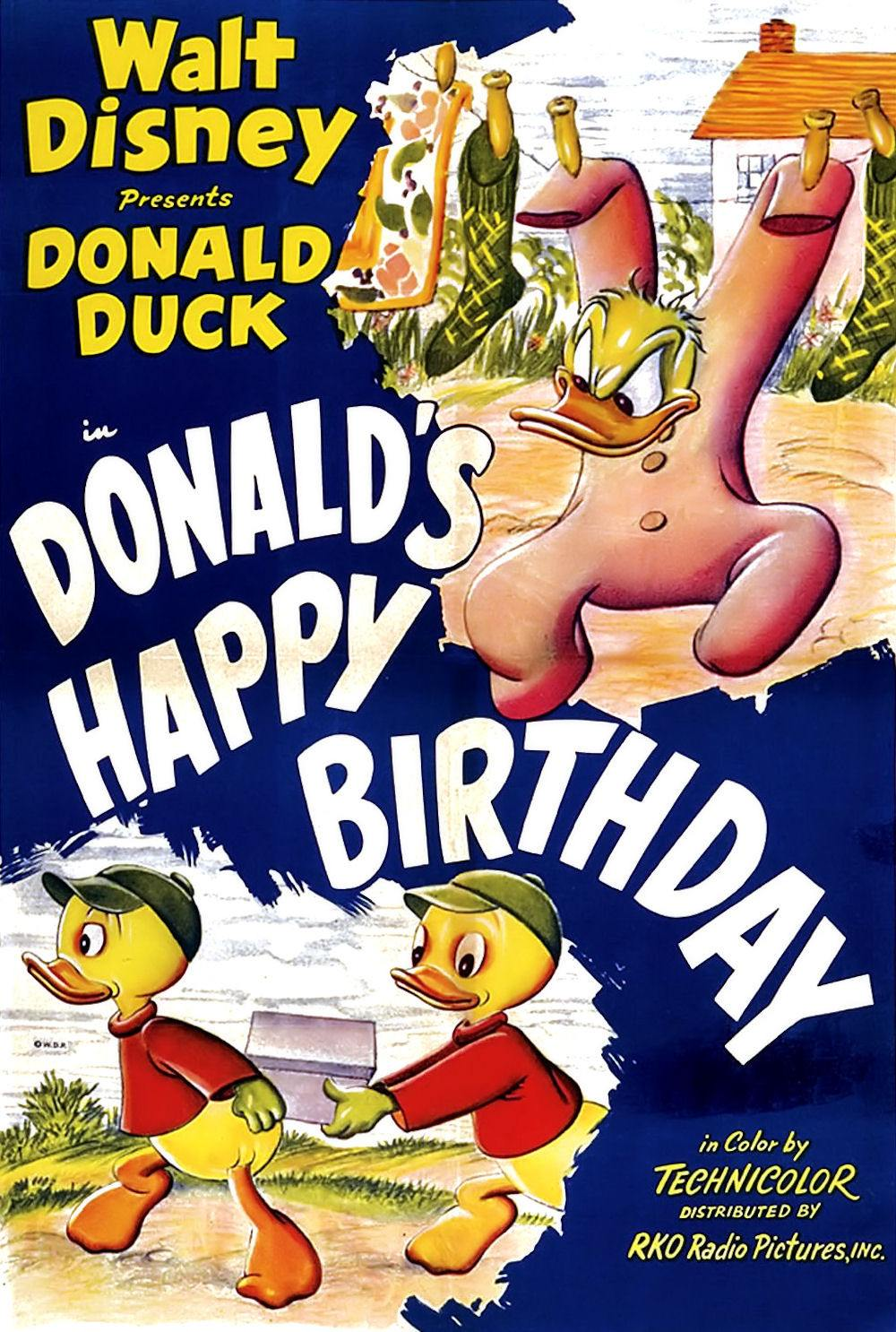 Affiche Poster pile farces donald happy birthday disney