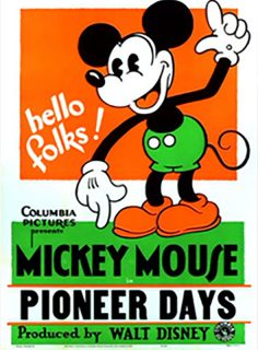 Affiche Poster pioneer days disney mickey