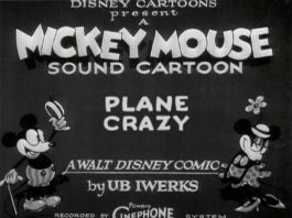 Affiche Image plane crazy disney mickey