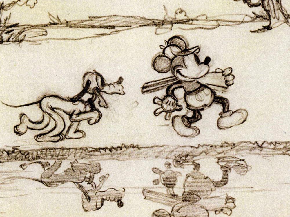 Artwork chasse canard duck hunt disney mickey