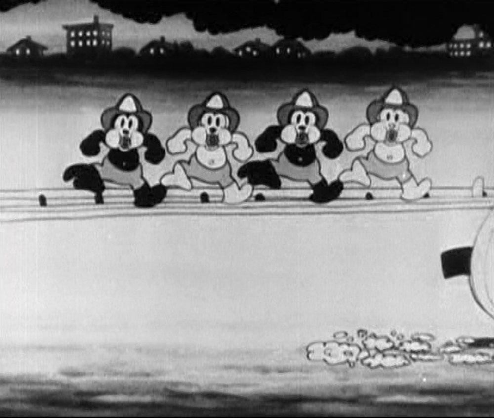 Image combattants feu fire fighters disney mickey