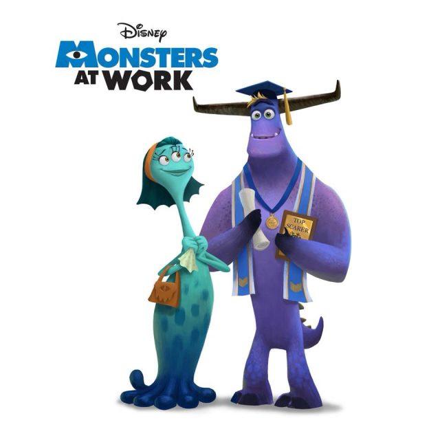 logo pixar monsters work disney+