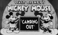 Affiche Poster art camping out troubles mickey disney
