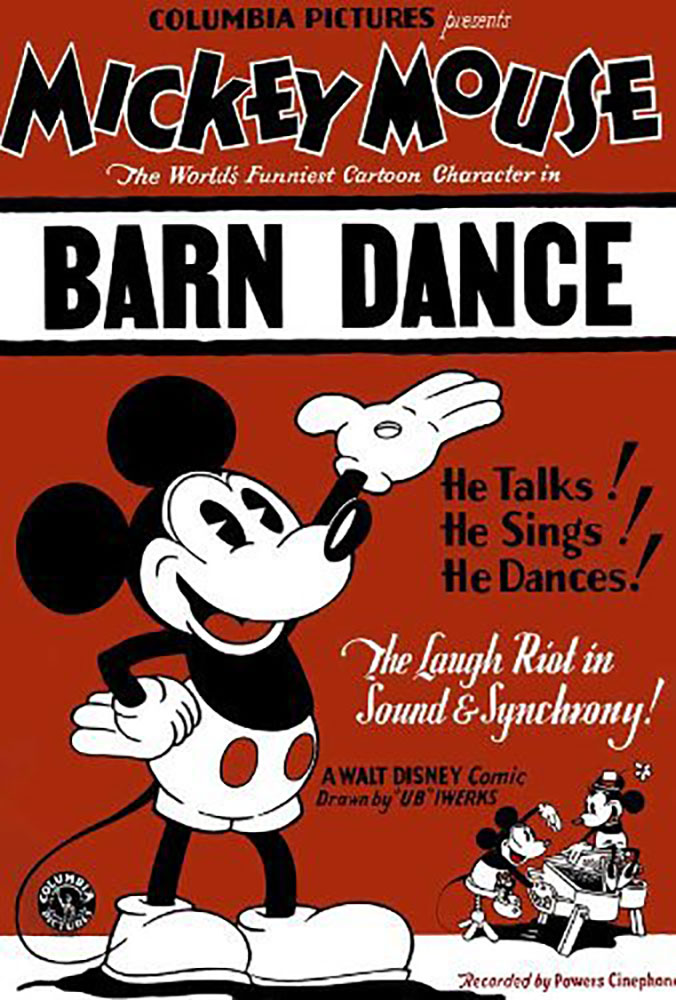 Affiche Poster bal campagne barn dance disney mickey
