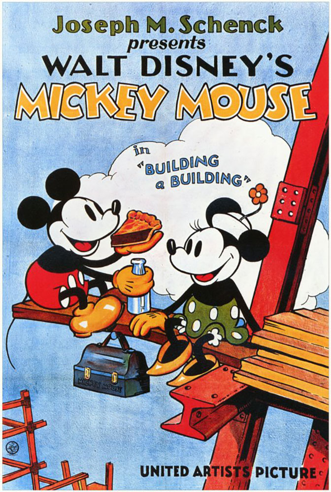 Affiche Poster batissons building mickey disney