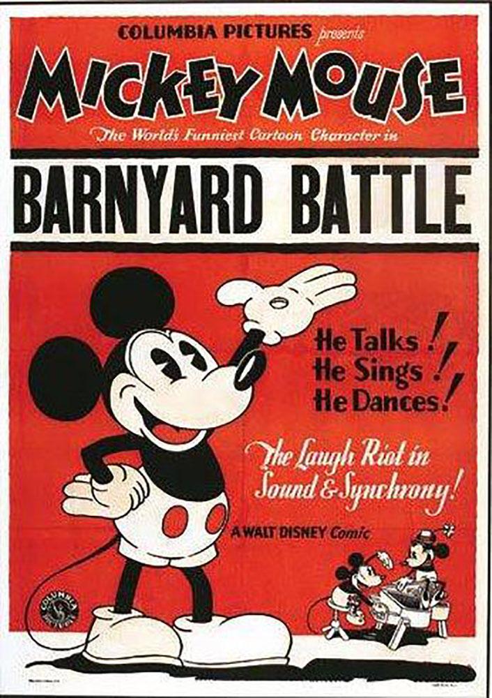 Affiche Poster champ bataille barnyard battle mickey disney