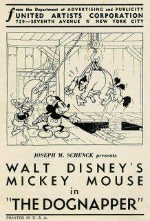 Affiche Poster enlèvement chien dognapper disney mickey