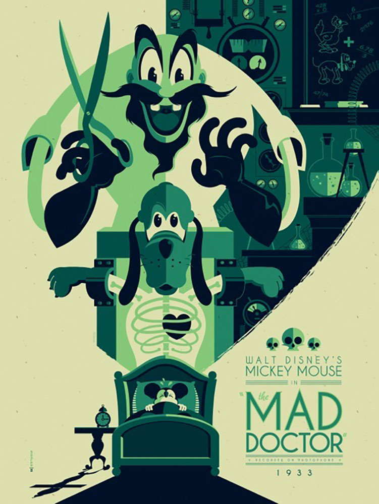 Affiche Poster mad doctor mickey disney
