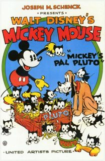 Affiche Poster ami mickey pluto pal disney