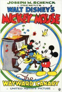 Affiche Poster mickey canari wayward disney