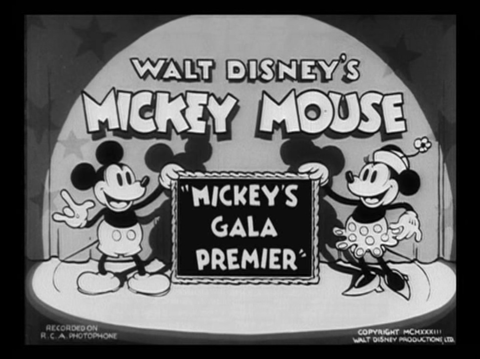 Affiche Poster mickey gala premier disney