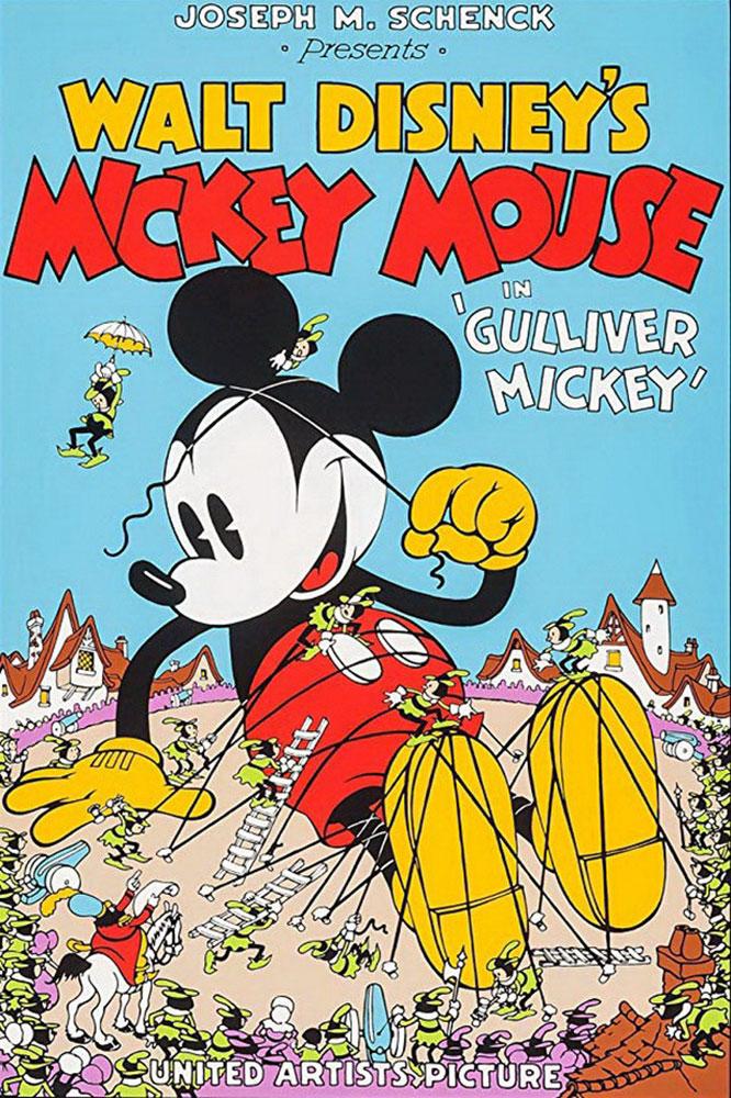 Affiche Poster mickey gulliver disney