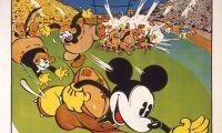 Affiche Poster mickey marque essai touchdown disney