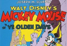 Affiche Poster mickey moyen age olden days disney