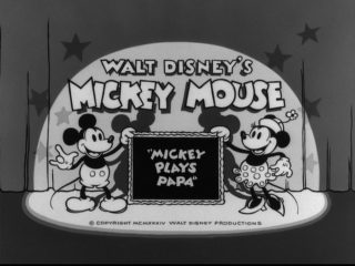 Affiche Poster mickey plays papa disney