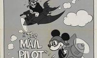 Affiche Poster mickey postier ciel mail pilot disney