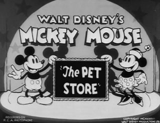 Affiche Poster pet store disney mickey