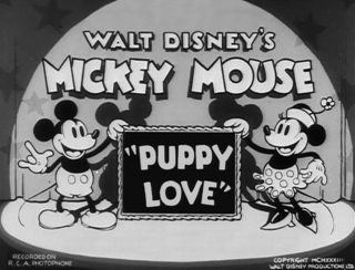 Affiche Poster premier amour puppy love disney mickey