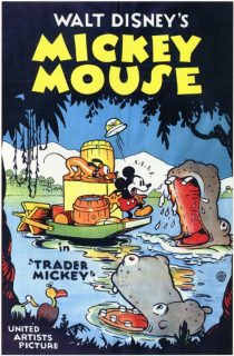Affiche Poster trader mickey disney