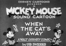 Affiche Poster when cat away mickey disney