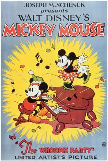 Affiche Poster whoopee party mickey disney