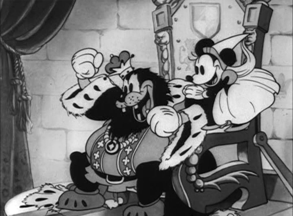 Image mickey moyen age olden days disney