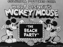 Affiche Poster beach party disney mickey