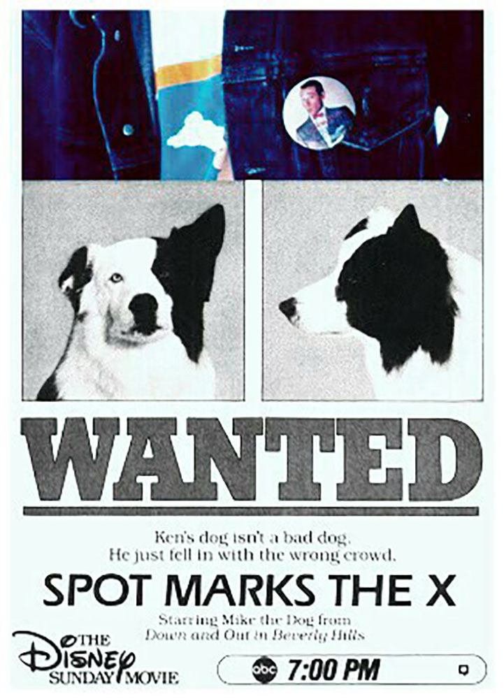 Affiche Poster capone chien gangster spot marks x disney channel