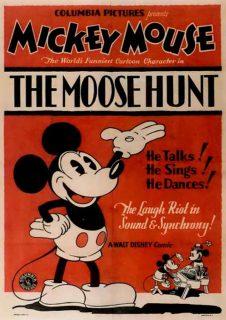Affiche Poster chasse élan moose hunt mickey disney