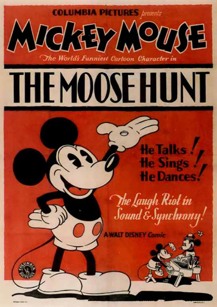 Affiche Poster chasse élan moose hunt mickey disney