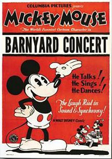 Affiche Poster concert rustique barnyard mickey disney