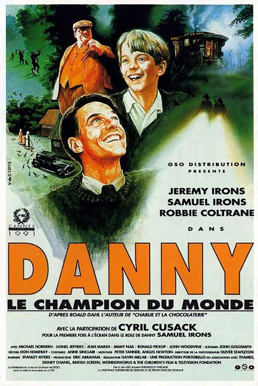 Affiche poster danny champion monde world Roald Dahl disney channel