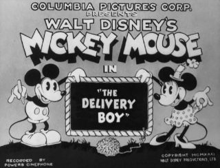 Affiche Poster delivery boy disney mickey