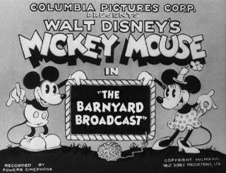 Affiche Poster diffusion maison barnyard broadcast disney mickey