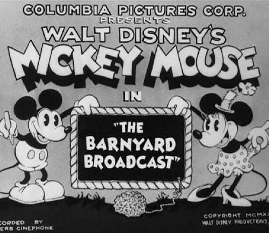 Affiche Poster diffusion maison barnyard broadcast disney mickey