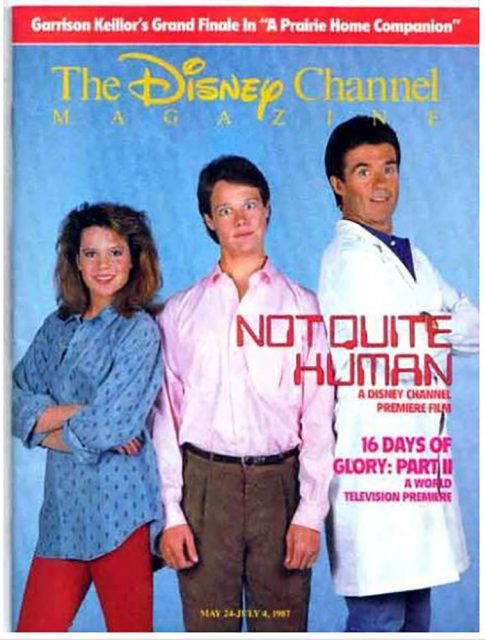 Affiche Poster electronic junior humain presque quite human disney channel