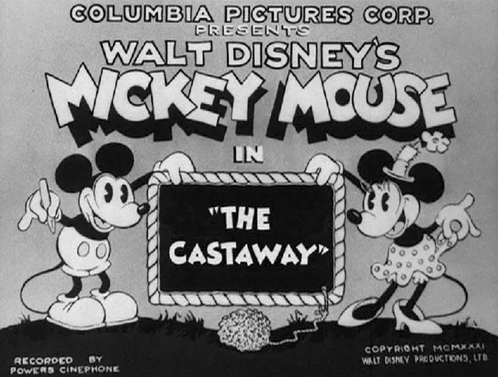 Affiche Poster esseule castaway mickey disney