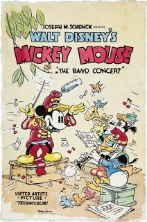 Affiche Poster fanfare band concert mickey disney