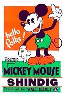 Affiche Poster fête joyeuse shindig mickey disney