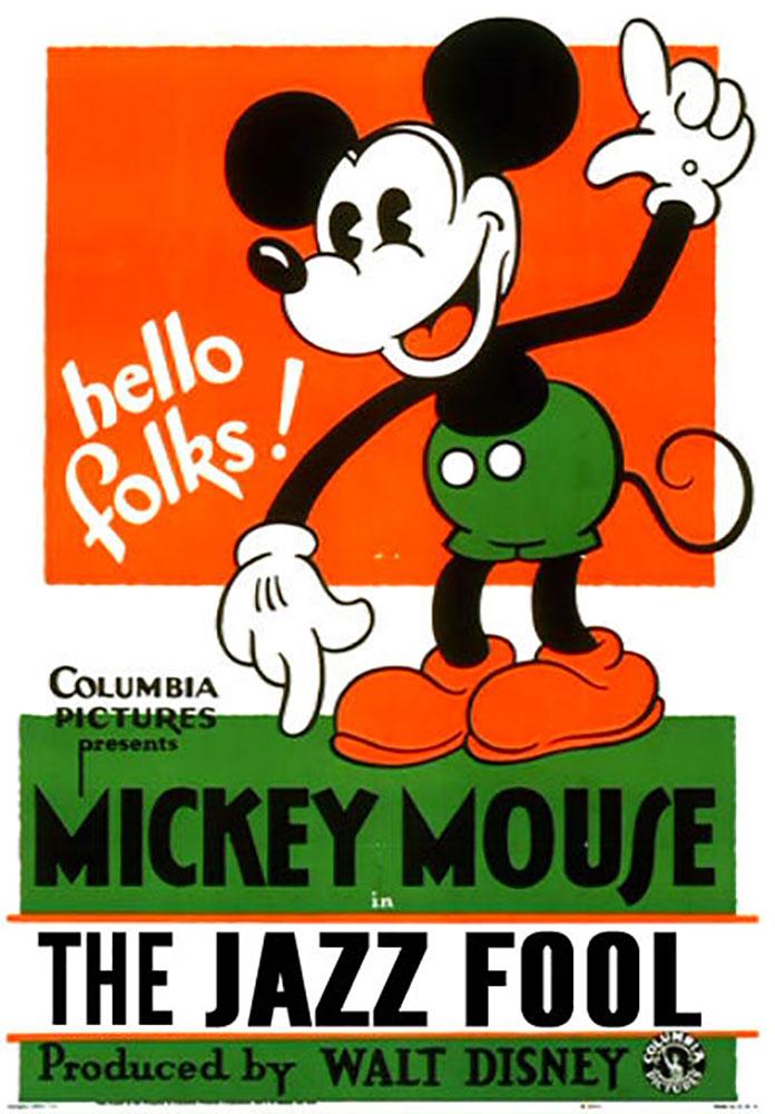 Affiche Poster fou jazz fool disney mickey